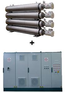 Vaporiseurs de gaz naturel liquéfié + armoire de contrôle