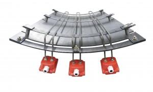 Eléments chauffants pour réservoir d'injection de bore