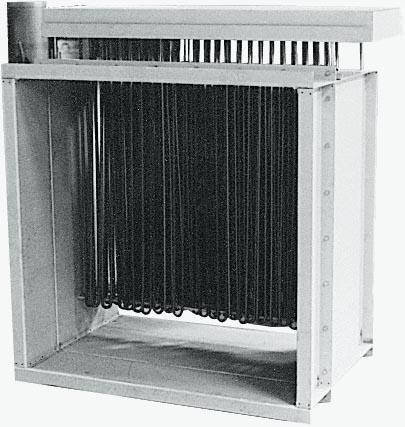 Batteries rectangulaires de chauffage d'air