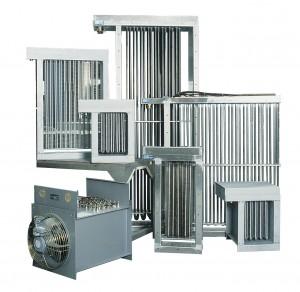 Batteries de chauffage d'air, convecteurs, aérothermes