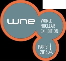 "Logo de la "" World Nuclear Exhibition"""