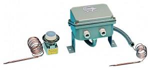 thermostat à dilatation de liquide nu et sous boitier vulcanic