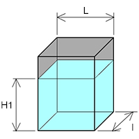 Cuve rectangulaire hauteur liquide
