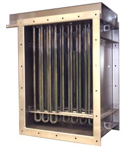 Rectangular air duct heaters