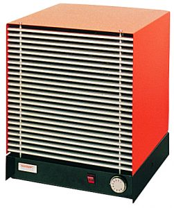 Wall-mounted industrial fan heaters