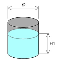 heating volume liquid cylindrical tank