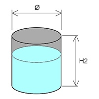 heating volume liquid cylindrical tank 2