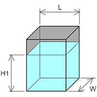 heating volume liquid rectangular tank