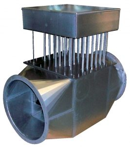 Calentador de conducto de aire de proceso con entrada embridada