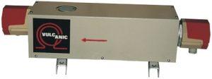 Calentador de fluido en circulación con aislante de calor