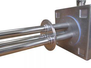 Elementos calefactores soldados en el tapón de la abrazadera ASME BPE