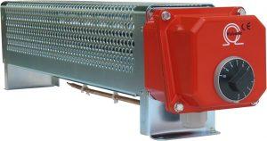 Radiadores industriales controlados con termostato